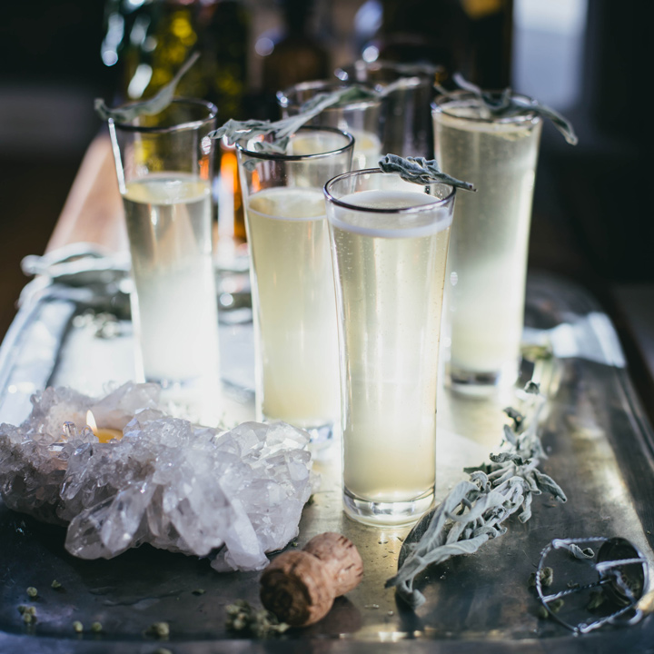 sage and ginger prosecco cocktail