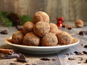 Chocolate prosecco truffles