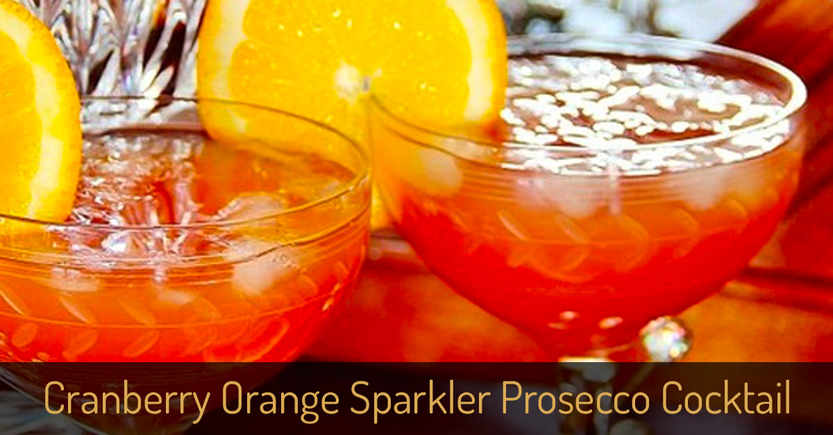 Cranberry Orange Sparkler Prosecco Cocktail