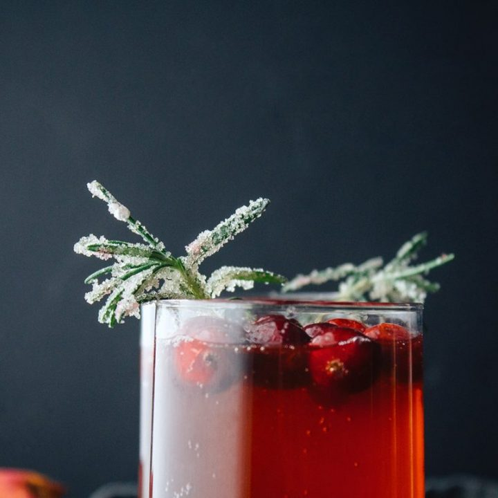 spiced cranberry prosecco punch