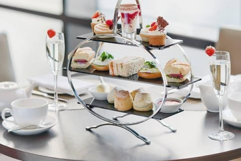 Afternoon tea with Prosecco
