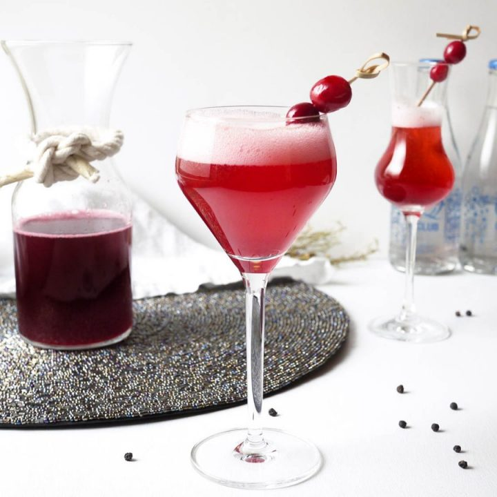 cherry pop prosecco cocktail
