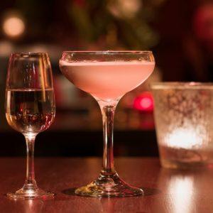 sloe gin fizz prosecco cocktail