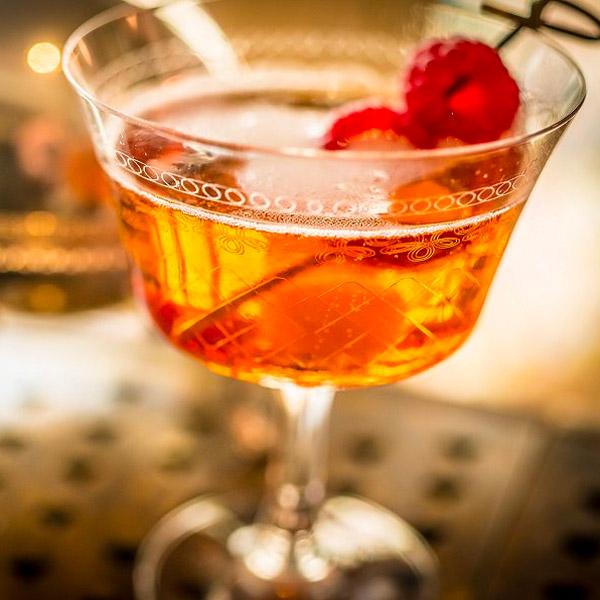 Raspberry Rosso Prosecco Cocktail